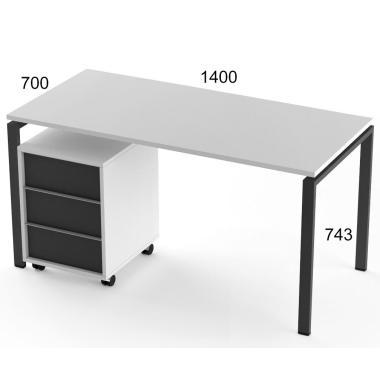 Стол компьютерный и тумба Salita Promo (TXG1418) Графит