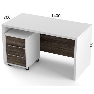 Стол компьютерный и тумба Salita Promo (AX1436) Белый