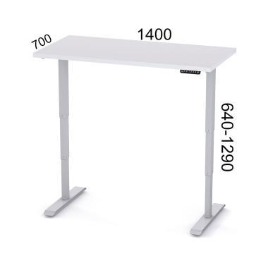 Регулируемый стол компьютерный 2х-моторный Salita Электро Белый 36 мм (E1-140-36)
