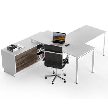 Офисный стол руководителя с брифингом Salita Promo 18 мм (WPT12-18)